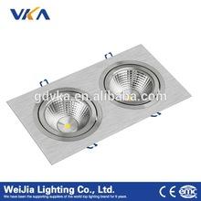 Factory direct sale 30w QR111 square ceiling light AR111 grille spotlight 30w double AR111
