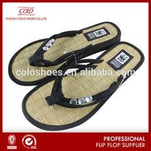 2015 fashion tatami straw bamboo flip flops