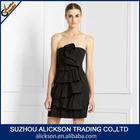 Charming Strapless Layer Elastic Satin Short Length Samples Of Cocktail Dress