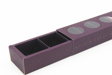 Luxury dark purple macaroon pakaging box cookie box with PET window