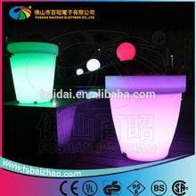 Plastic colour changing solar electric flower pot