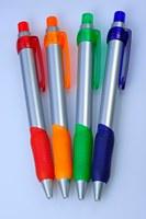 China factory new product elegant style silver stick antiskid ball pen