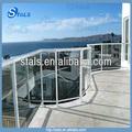balcón al aire libre de aluminio y vidrio balaustrada