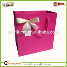 Silk Flower Women Paper Gift Bags Wholesale