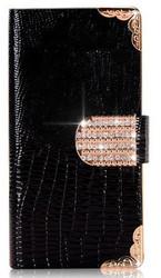 Lizard Grain Leather Diamond Phone Case For Samsung Galaxy Note 3 N9002