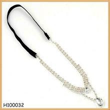 Korean Fashion Personalized Crystal Stone Handmade Thin Hair Band