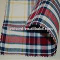 fios de tecido de algodão tingido de tecido