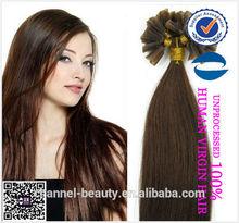 Qindao Queen Hair Products 2014 High quality raw material U-Tip/Nail Hair Extension fashion brazilian hair