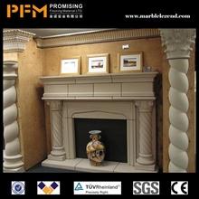 High density housing architecture marble stair indoor stair railing beige