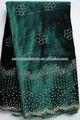 Tissu de velours de haute qualité d'africaines tissus robe de designer de mode