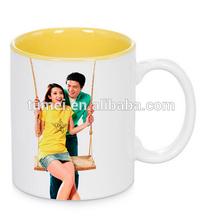 Christmas gift!!! cheap price 11 oz inner color mug for sublimation printing