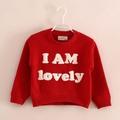 Tay7025 imprimé. lettres de l'alphabet& postor chandail tricoté enfants à tricoter pull motifs