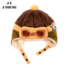 KD-A377 China new wholesale winter earflap kids pilot baby boy hats