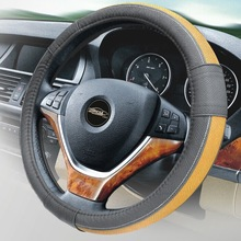 factory manufacture 2014 leather classic car accessories steering wheel cover hign quality handle cover accessoire automobile