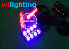 4X4 LED Flash Emergency Strobe Car Grill Light LED car vehicle warning Lights -Wllighting