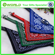 wholesale decorative personalized embroidered pet collar with scarf