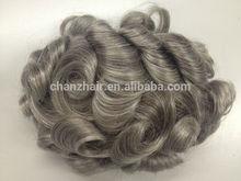 new fashion style best 100% human hair grey human hair wigs