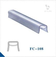 u shaped plastic PVC profile extrusion