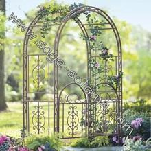 Decorative Metal Garden Arch with Gate