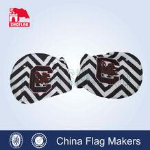 custom logo custom car mirror flags NFL NCAA for sale,mirror flag