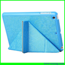 for mini ipad transformers gold grain pu leather case