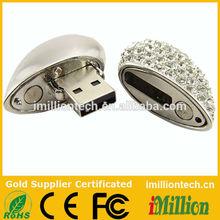 jewelry diamond usb flash drive/diamond heart usb