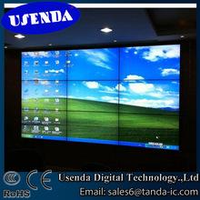 55 inch samsung lg panel video screen 3x3 6.7mm splicing unit tv wall