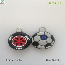 Custom embossed soft pvc zipper pull
