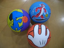 Ball Type and Rubber Ball Material Multi color training rubber basketball