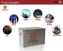 Aluminum diamond plate rolling vintage stacker cooler box