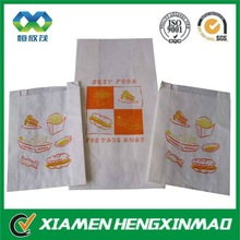 white kraft paper food bags,fast food bag for burgers, fries chips