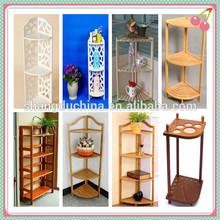 Handmade natural wooden corner rack,wooden corner stands,wooden shelf