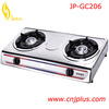 JP-GC206 Wholesell Cast Iron Grate 2 Burner Table Top Gas Stove