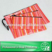 Wipe-clean 3pcs set cosmetic bag/envelope bag/pencil case