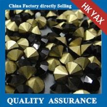 D0811 China cheap shiny black point back rhinestone,2014 new design rhinestone point back,fashion poin back rhinestone