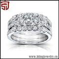 projeto bonito anel de pedra grande esterlina sets para os homens
