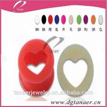 Custom wholesale silicone ear tunnel expander body piercing of ear heart