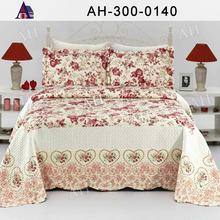 luxury bridal king size cotton printed bedding set