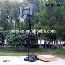 Home Adjustable Basketball Hoop MK013 with spring rings, acrylic transparent backboard, PE backboard frame