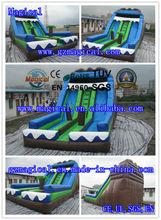 inflatable large water double lane stair water slide/ giant inflatable slide n slip