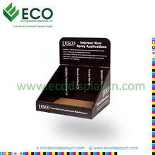 Ondulado de Material contra exposição de mercadoria papelão exposição da bancada estão
