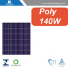 TUV approved 140w best price per watt solar panels with power cables for china solar systems