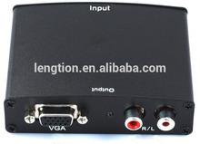 1080P Audio Video VGA to HD HDMI HDTV Video Adapter Converter Box - Connect PC Computer SVGA Video RCA R/L for PC HDTV STB