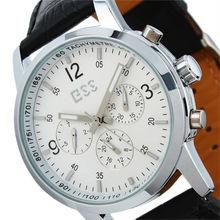 ESS New Gent's White Elegant Automatic Mechanical Elegance Leather Watch Men WM228-ESS