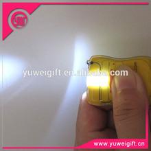 Mini flashlight custom logo printing Reflective LED keychain