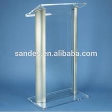 Clear Steel Plastic Church Podium