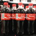 Coca- cola material de la etiqueta