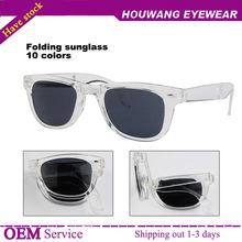 NewestTransperent Frame Foldable Wayfarer Sunglasses 10 colors for available