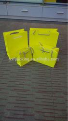Neon Yellow Paper Bag
