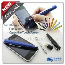 3 in 1 promotional pen , mini capacitive stylus ball pen , cello pens for promotion logo